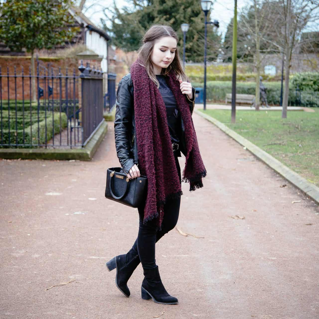 black suede boots outfit