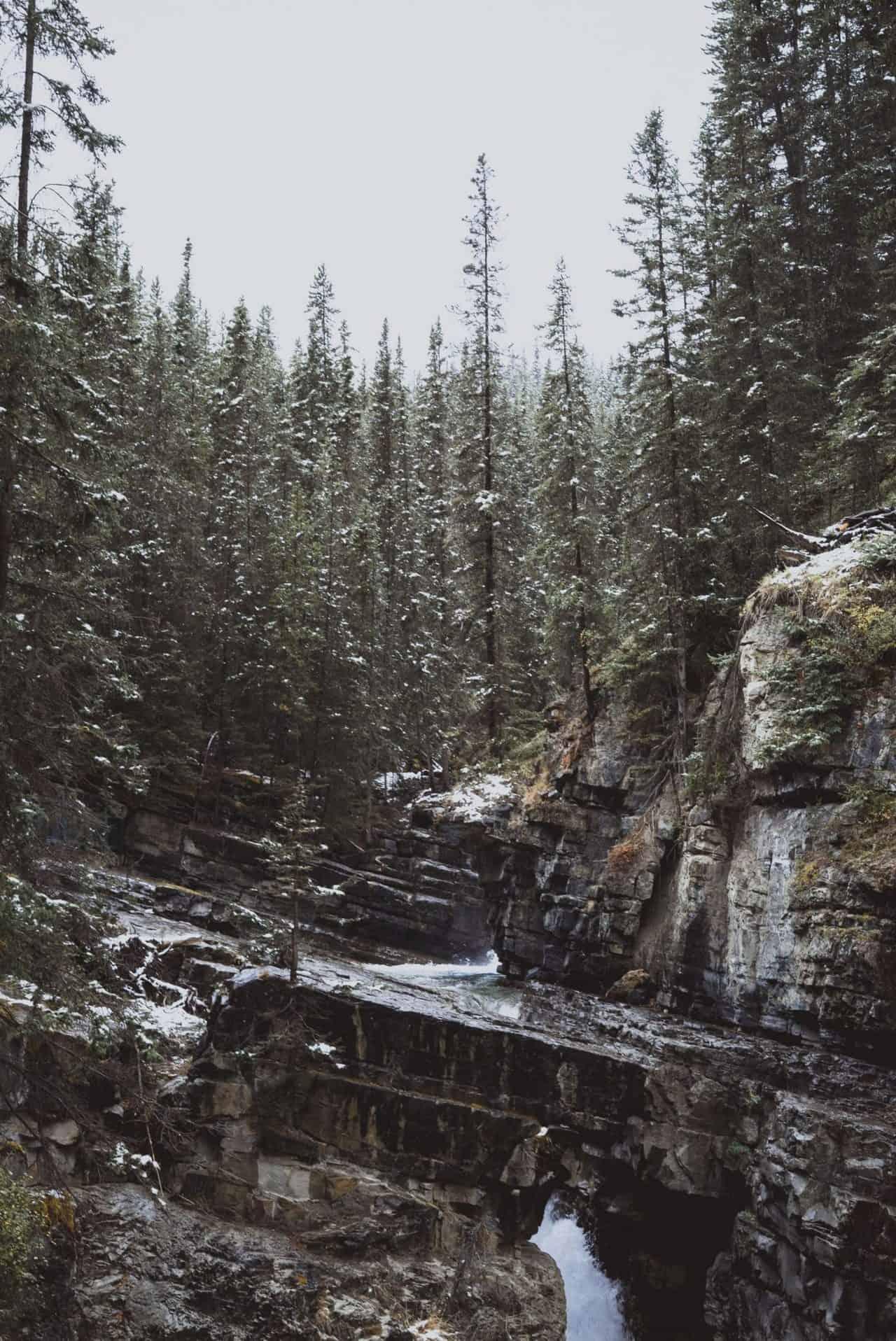 johnston canyon banff alberta canada