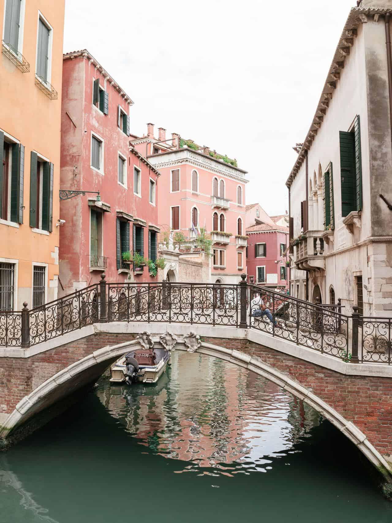 canal bridge venice italy