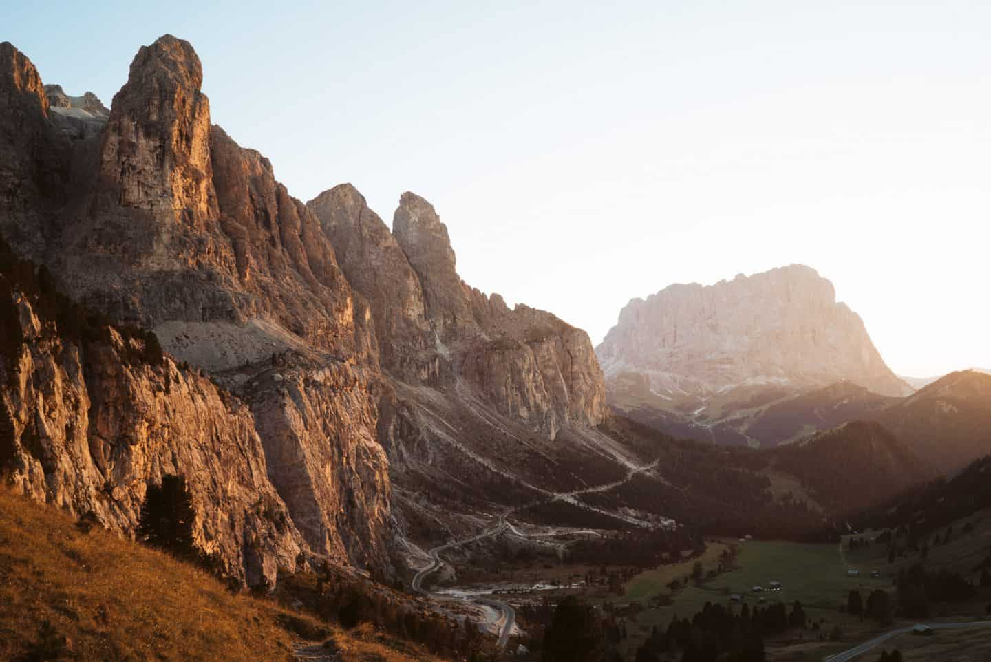 Passo Gardena the best mountain passes in the dolomites